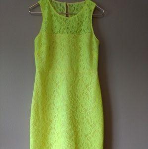 J Crew sz 6 Beautiful yellow lace dress